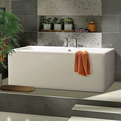 Berg 1700 x 800mm No Tap Holes Standard Double Ended Bath